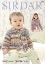 Sirdar Snuggly Baby Crofter Chunky - 4792 Cardigans Knitting Pattern